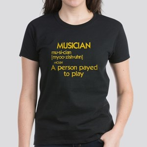 funny musician Women's Dark T-Shirt