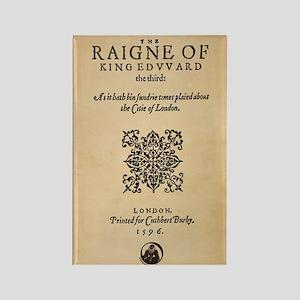 King Edward III (1596) Rectangle Magnet