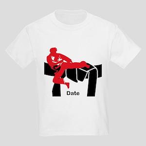 Black Belt Male Kids Light T-Shirt