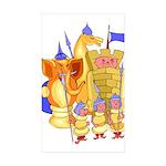 Fantasy Chess Sticker (Rectangle 50 pk)