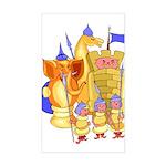 Fantasy Chess Sticker (Rectangle)