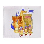 Fantasy Chess Throw Blanket