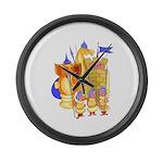 Fantasy Chess Large Wall Clock