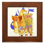 Fantasy Chess Framed Tile