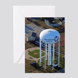 """Water Tower"" (color) Greeting Card"