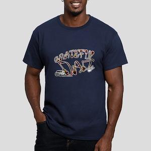 Grateful Dad - Men's Fitted T-Shirt (dark)