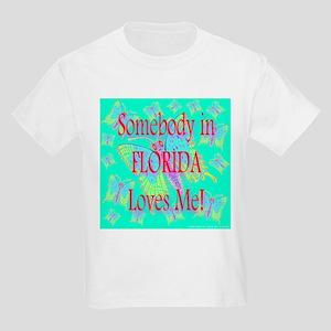 Somebody In Florida Loves Me! Kids T-Shirt