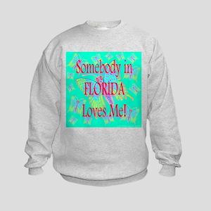 Somebody In Florida Loves Me! Kids Sweatshirt