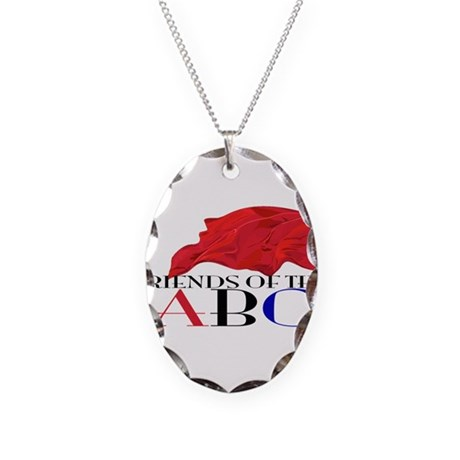 Friends of the ABC Necklace Oval Charm