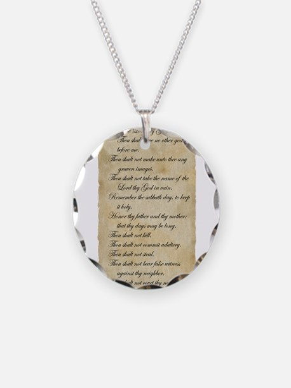 10 Commandments Necklace