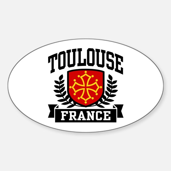 Toulouse France Sticker (Oval)