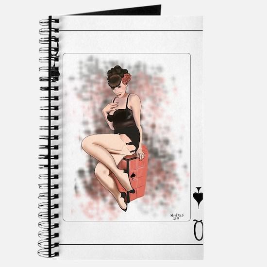 Queen of Spades Pin-Up Journal