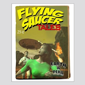 Flying Saucer Tales Fake Pulp Small Poster
