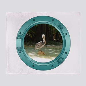 Pelican Porthole Throw Blanket