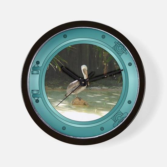 Pelican Porthole Wall Clock