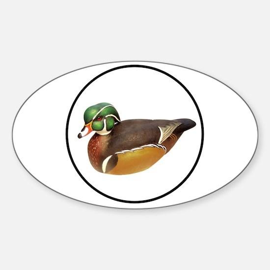 QUACK QUACK Sticker (Oval)