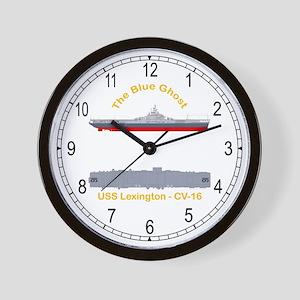 USS Lexington CV-16 Wall Clock