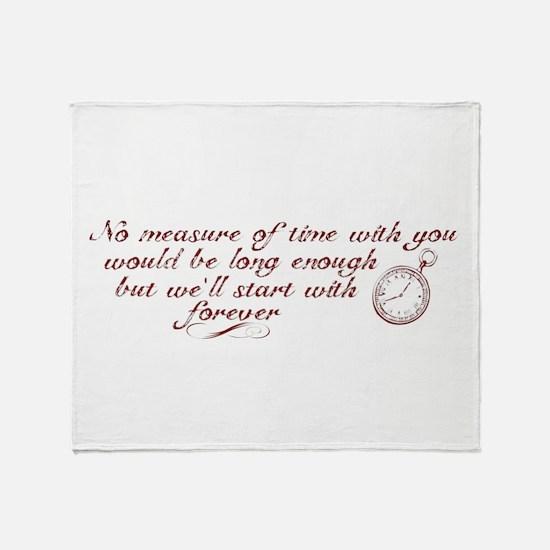 No Measure of Time-Breaking D Throw Blanket