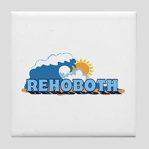 Rehoboth Bech DE - Waves Design Tile Coaster