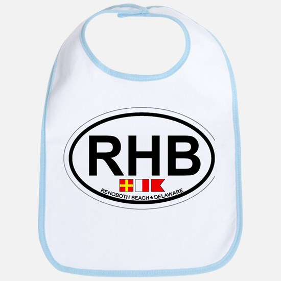 Rehoboth Beach DE - Oval Design Bib