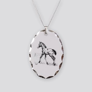 Appaloosa Necklace Oval Charm