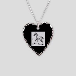 Appaloosa Necklace Heart Charm