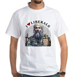Osama luvs Liberals White T-Shirt