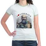 Osama luvs Liberals Jr. Ringer T-Shirt