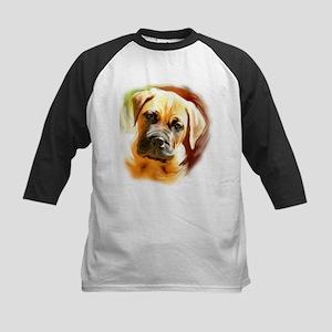 Mastiff puppy portrait Kids Baseball Jersey