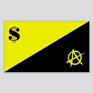Anarcho-Capitalist Flag Sticker (Rectangle)