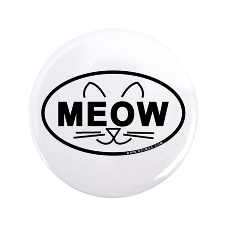 """Meow Oval 3.5"""" Button (100 pack)"""