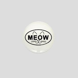 Meow Oval Mini Button