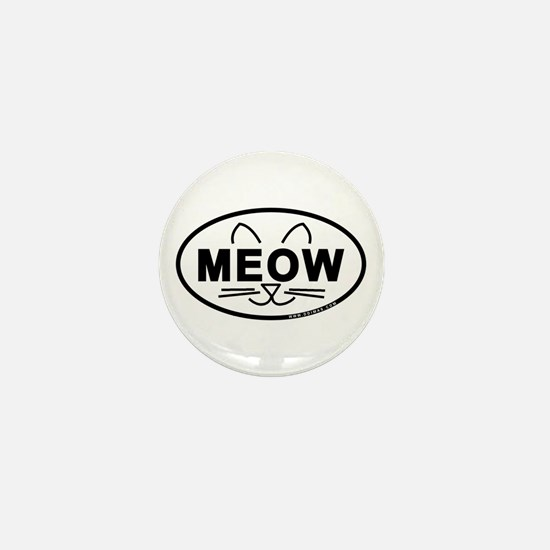 Meow Oval Mini Button