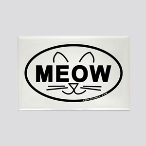 Meow Oval Rectangle Magnet