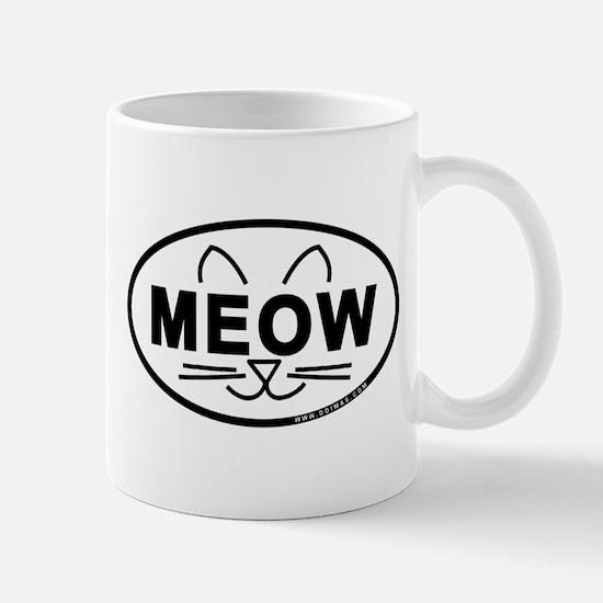 Meow Oval Mug