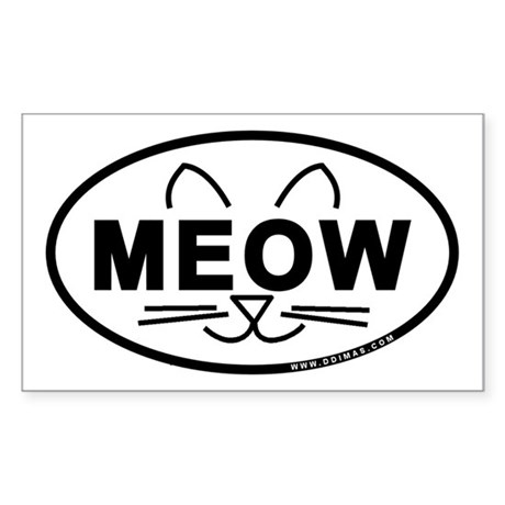Meow Oval Sticker (Rectangle 50 pk)