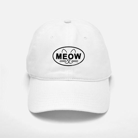 Meow Oval Baseball Baseball Cap
