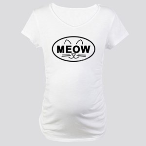 Meow Oval Maternity T-Shirt