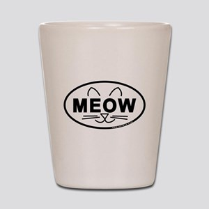 Meow Oval Shot Glass