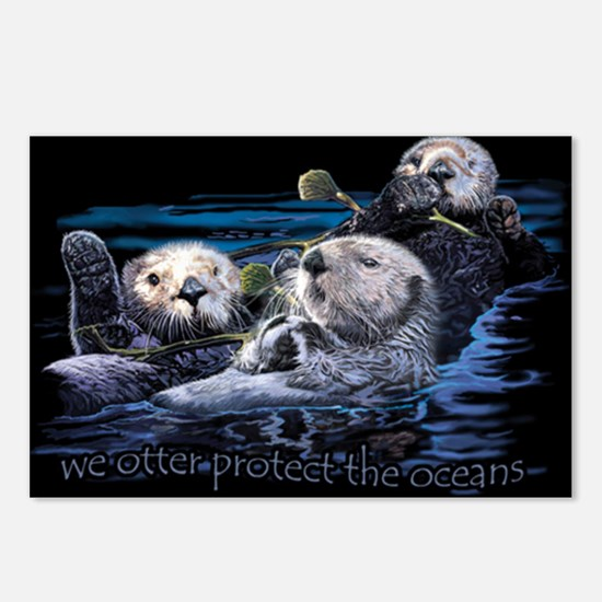 Unique Sea otter Postcards (Package of 8)