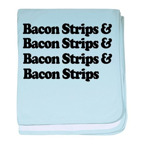 Bacon Strips baby blanket