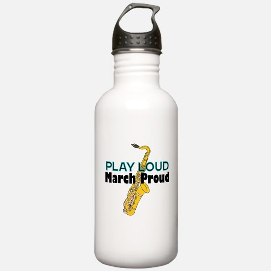 Play Loud March Proud Sax Water Bottle