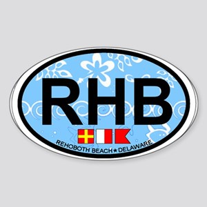 Rehoboth Beach DE - Oval Design Sticker (Oval)