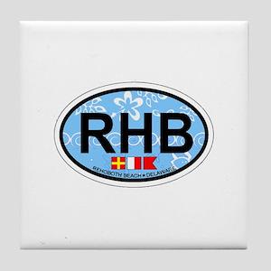 Rehoboth Beach DE - Oval Design Tile Coaster
