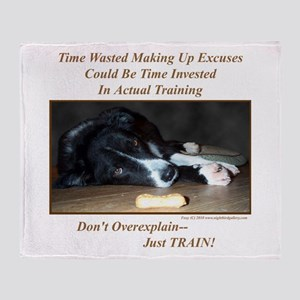 Training Excuses Collection Throw Blanket