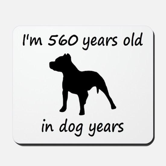 80 Dog Years Pitbull 1C Mousepad