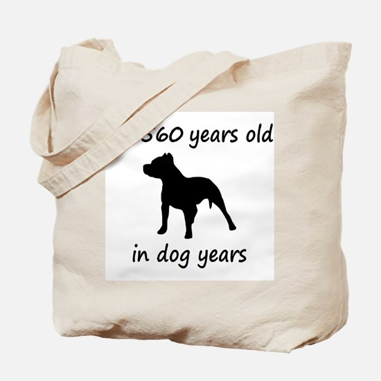 80 Dog Years Pitbull 1C Tote Bag