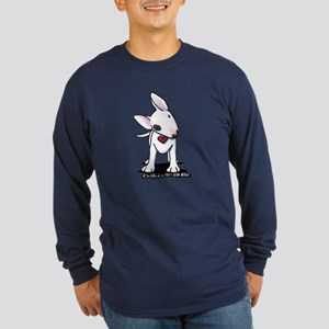 Bull Terrier Spot Long Sleeve Dark T-Shirt