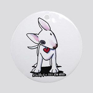Bull Terrier Spot Ornament (Round)