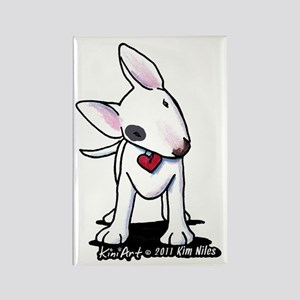 Bull Terrier Spot Rectangle Magnet